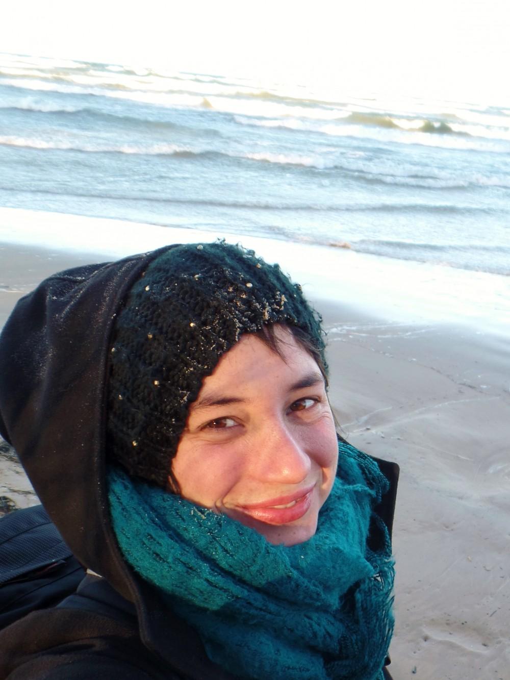 Christina Egerter am baltischen Meer