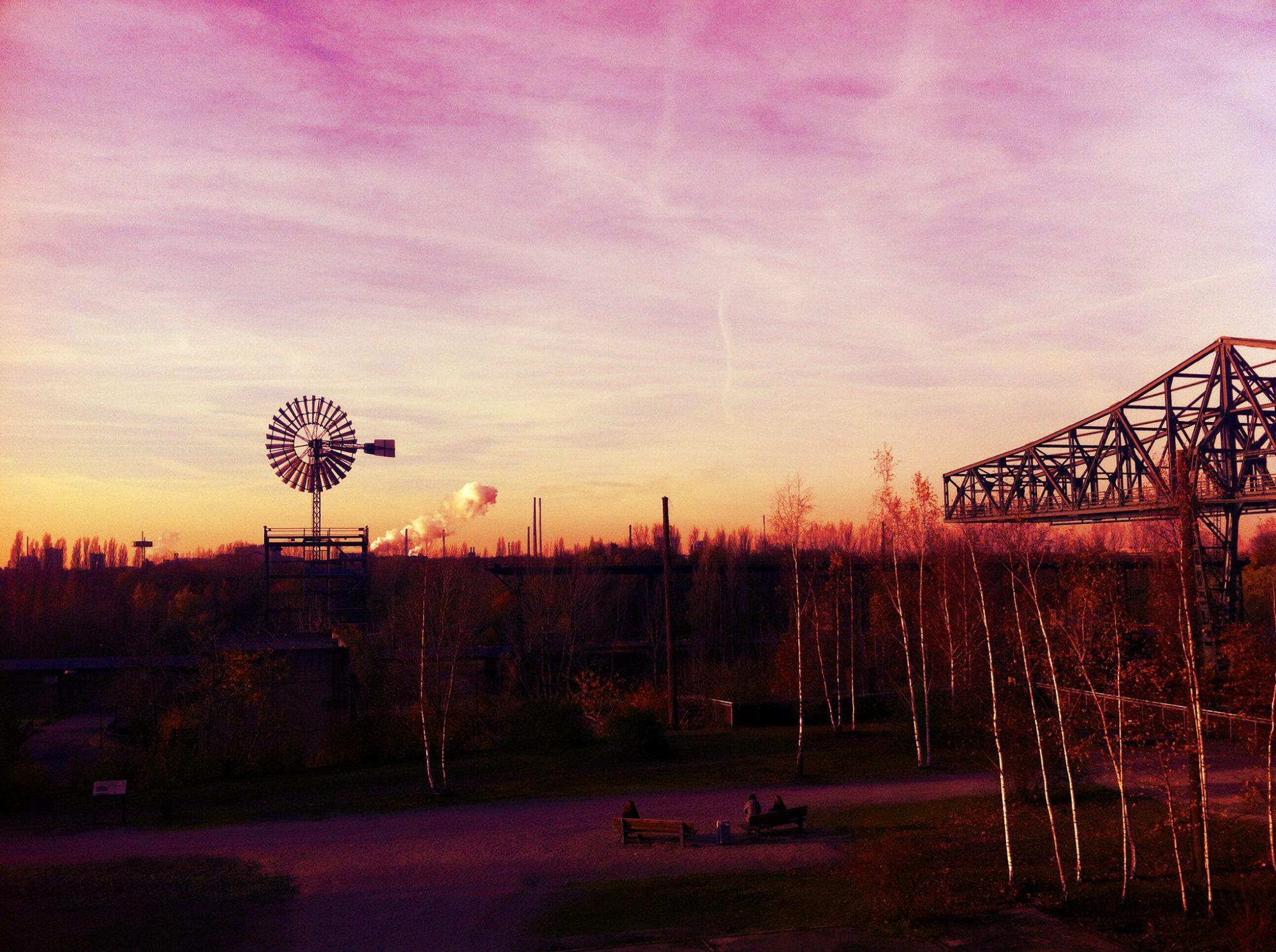 Landschaftspark_Duisburg_Sonennuntergang