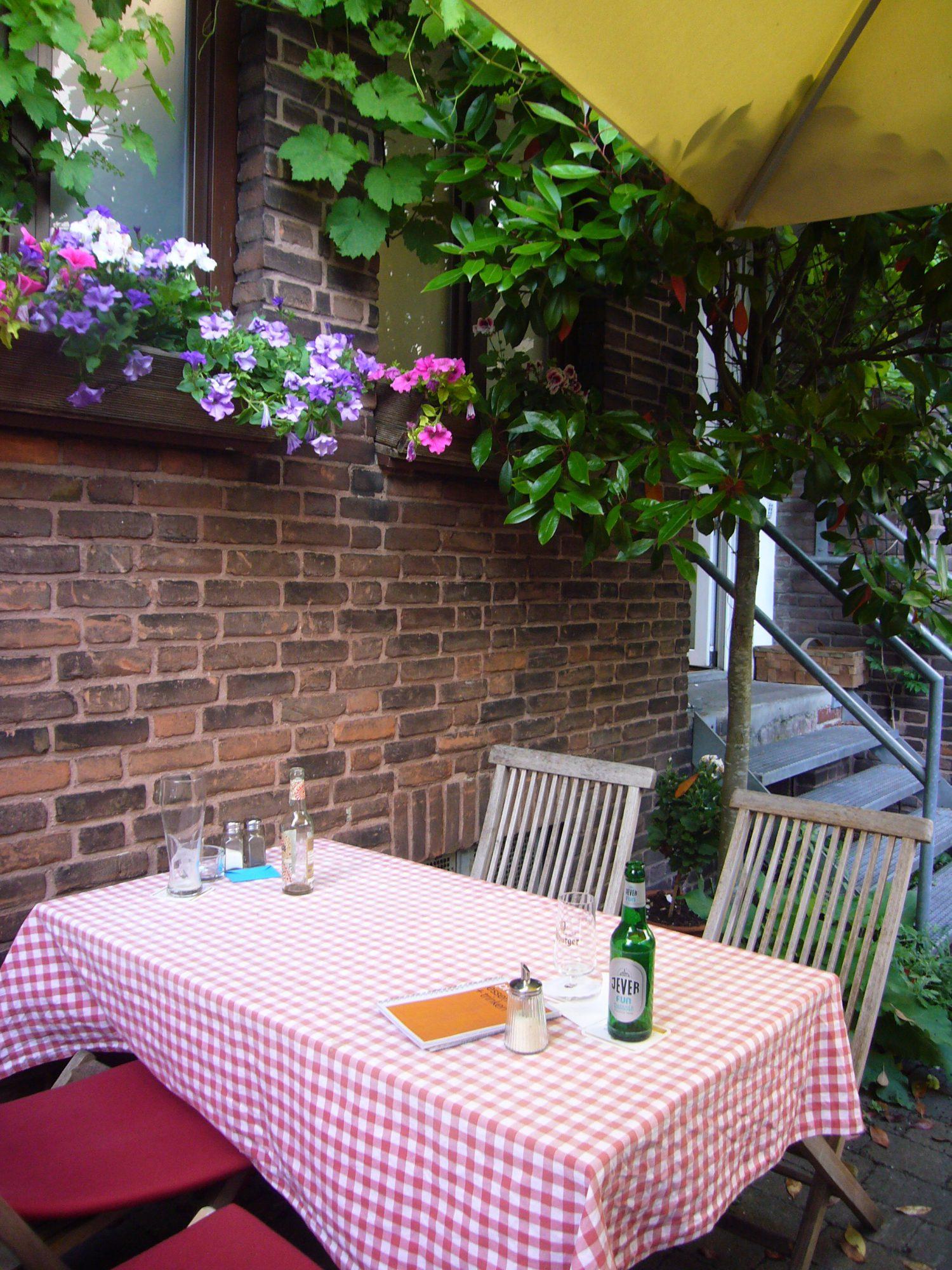 Der Hinterhof Im Cafe Prutt Rebeccas Welt