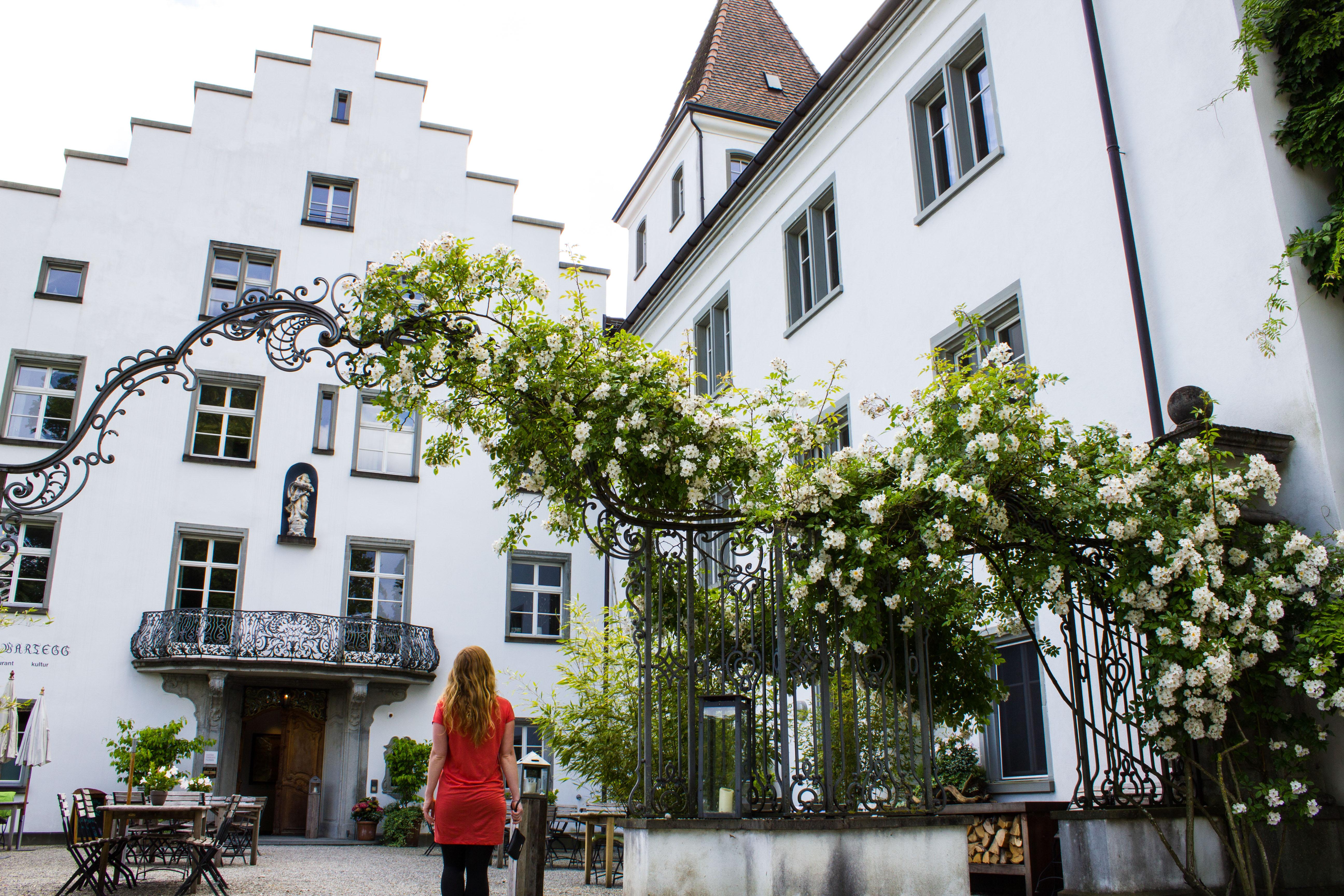 Eingang zum Bio-Schlosshotel Wartegg